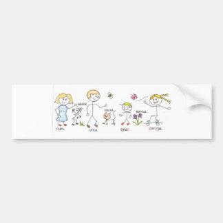 De Sticker van de Bumper van de familie Bumpersticker