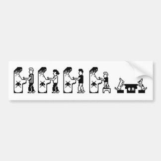 De Sticker van de Bumper van de Familie van Gamer