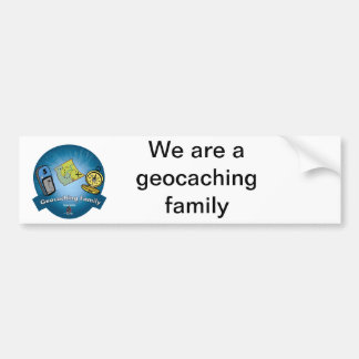 De Sticker van de Bumper van de Familie van Geocac Bumpersticker