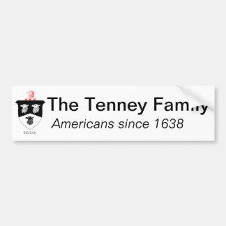 De Sticker van de Bumper van de Familie van Tenney Bumpersticker