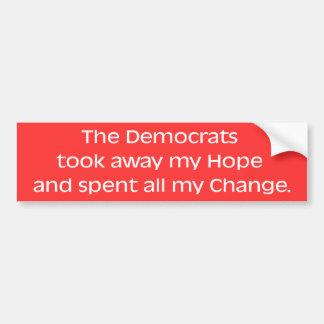 De Sticker van de Bumper van de hoop & van de Vera