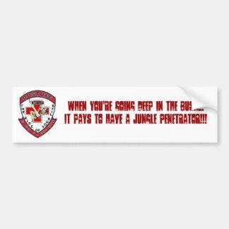 De Sticker van de Bumper van de Indringer van het