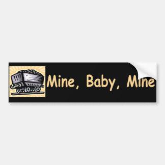 De Sticker van de Bumper van de Mijn van het Baby