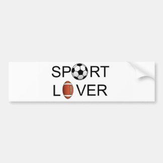 De Sticker van de Bumper van de Minnaar van de spo
