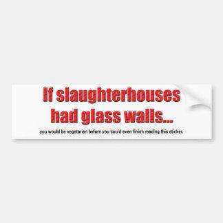 De Sticker van de Bumper van de Muren van het glas
