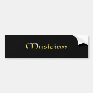De Sticker van de Bumper van de musicus