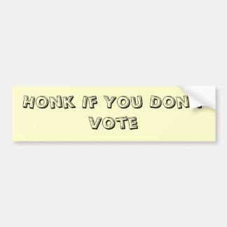 De Sticker van de Bumper van de niet-kiezer (Lawaa