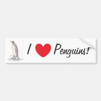 De Sticker van de Bumper van de Pinguïn van de kon