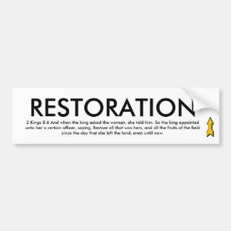 De Sticker van de Bumper van de RESTAURATIE