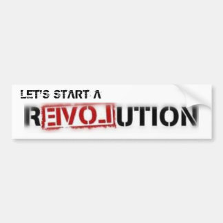 De Sticker van de Bumper van de Revolutie van de l