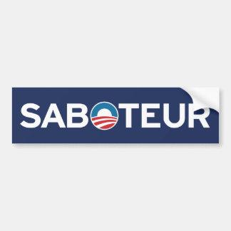 De Sticker van de Bumper van de SABOTEUR van Obama