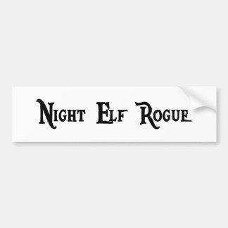 De Sticker van de Bumper van de Schurk van het Elf