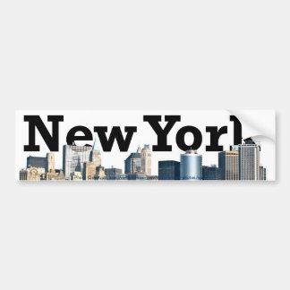 De Sticker van de Bumper van de Stad van New York