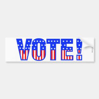 De Sticker van de Bumper van de stem