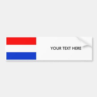 De Sticker van de Bumper van de VLAG van NEDERLAND Bumpersticker