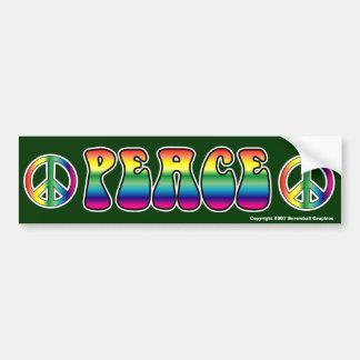 De Sticker van de Bumper van de vrede Bumpersticker