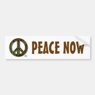 De Sticker van de Bumper van de vrede nu Bumpersticker