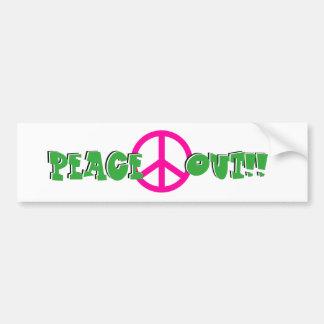 De Sticker van de Bumper van de vrede uit Bumpersticker