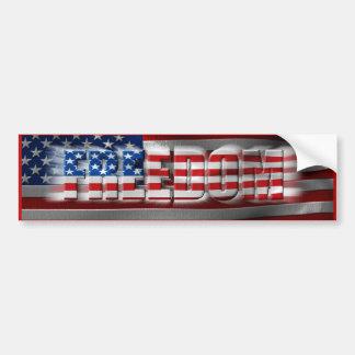 De Sticker van de Bumper van de vrijheid