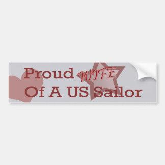 De Sticker van de Bumper van de Vrouw van de marin