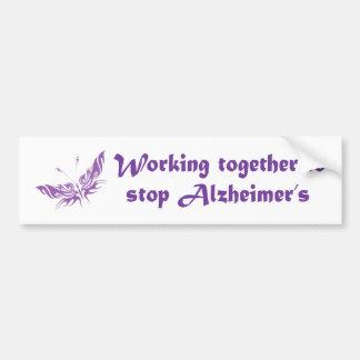 De Sticker van de Bumper van de Ziekte van Alzheim