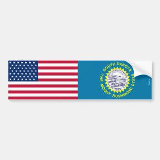 De Sticker van de Bumper van de Zuid-Vlaggen van