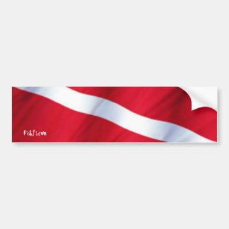De Sticker van de Bumper van DiveFlag