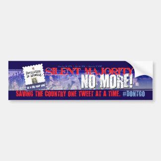 De Sticker van de Bumper van #dontgo van de tjilpe