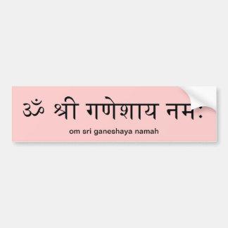 De Sticker van de Bumper van Ganesha