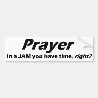 De sticker van de Bumper van het gebed! In een