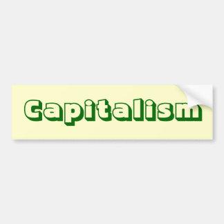 De Sticker van de Bumper van het kapitalisme