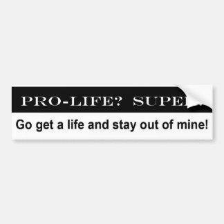 De Sticker van de Bumper van het pro-leven