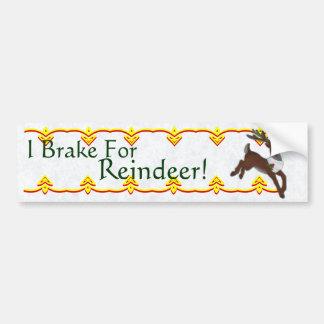 De Sticker van de Bumper van het rendier Bumpersticker
