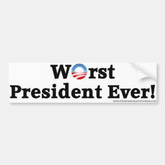 """De Sticker van de Bumper van het """"Slechtste Presid"""