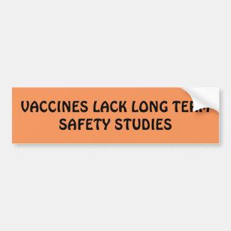 De Sticker van de Bumper van het vaccin Bumpersticker