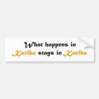 De Sticker van de Bumper van Kariba