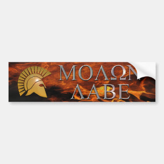 De Sticker van de Bumper van Labe van Molon