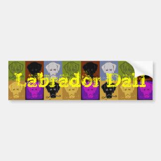 De Sticker van de Bumper van Labrador Dali Bumpersticker
