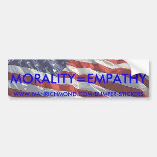 De Sticker van de Bumper van Morality=Empathy