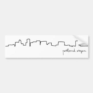 De Sticker van de Bumper van Portland, Cityscape v