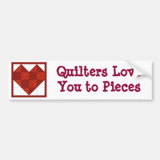 De Sticker van de Bumper van Quilter