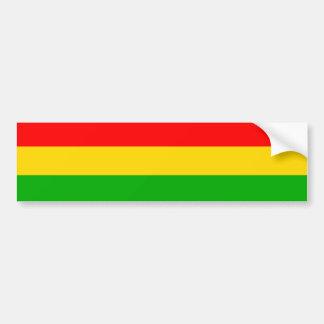De Sticker van de Bumper van Rasta