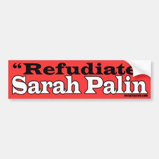 De Sticker van de Bumper van Refudiate