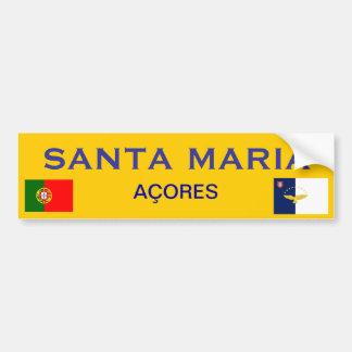De Sticker van de Bumper van Santa Maria * Bumpersticker