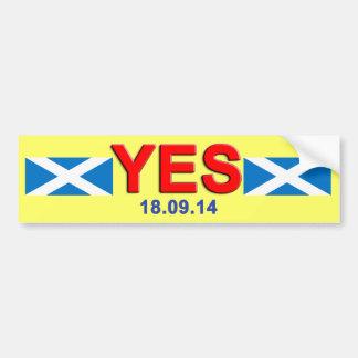 De Sticker van de Bumper van Schotland van de Stem