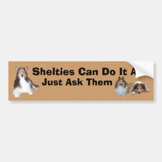 De Sticker van de Bumper van Sheltie