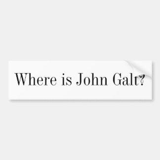 De Sticker van de bumper - waar is John Galt?