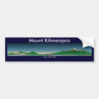 De Sticker van de bumper/zet Kilimanjaro op