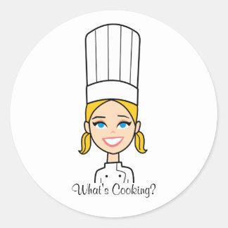 De Sticker van de Cartoon van de Chef-kok van de