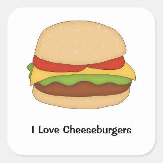De Sticker van de cheeseburger